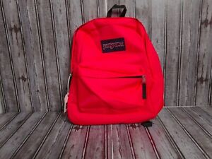 Jansport Classic Superbreak Fluorescent Red Unisex Backpack NWT