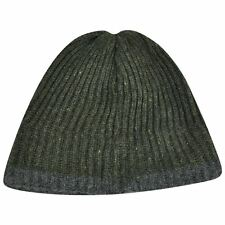 Plain Green Grey Cuffless Beanie Fur Knit Toque Hat Cap Skully Fleece Solid