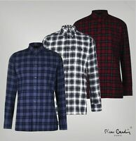 Mens Pierre Cardin Lightweight Long Sleeve Check Shirt Top Sizes from S to XXL
