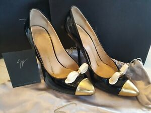 Giuseppe Zanotti Black Patent Bow Embellished Pump Size 37. RRP $799