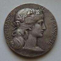 médaille bronze argenté offert par le sénateur jules elby - bruay pas de calais