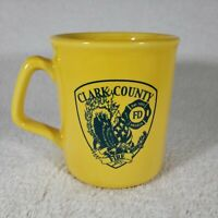 Clark County Fire Department Coffee Mug Cup Las Vegas Nevada Yellow