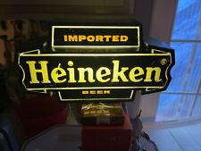 Vintage Heineken Imported Beer Bar Light Sign Wall Mount/man cave