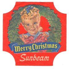 Sunbeam Bread End Label - LITTLE MISS SUNSHINE - Red - MERRY CHRISTMAS