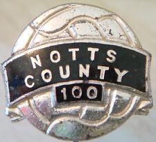 NOTTS COUNTY FC Vintage 100 badge Maker FIRMIN LONDON Stick pin 20mm x 18mm