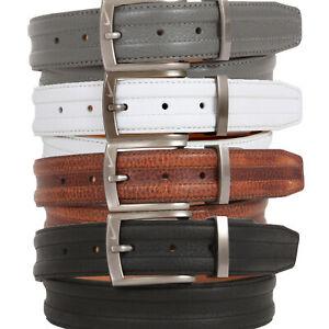 New Nike Golf Tour Performance Trapunto G-Flex Mens Leather Casual Dress Belt