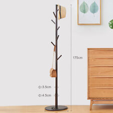 1x Home Office Hall Entryway Wooden Coat Rack Tree Suits Hanging Stand Hanger