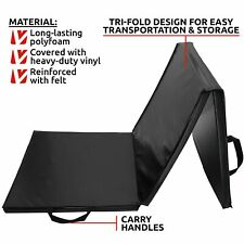 Viavito Tri-Fold Folding Exercise Gym Fitness Workout Mat with Handles