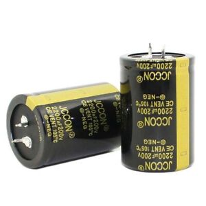 1PC 2200uF 200V Snap-in Electrolytic Radial Capacitors 105C 35x50mm