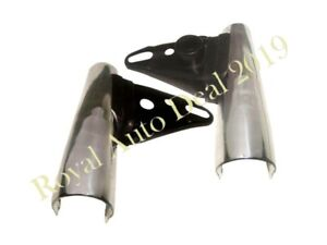 CHROME FRONT FORK HEADLAMP BRACKETS TRIUMPH BONNEVILLE 750 T140 TR7RV