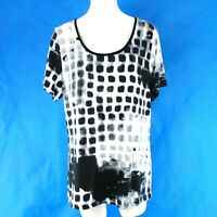 Airfield Damen Sommer T Shirt Oberteil Straß Muster Schwarz Weiß Np 99 Neu