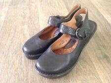 Born Britten W3321 Black Leather Platform Slingback Mary Jane Shoe US 7M EU 38