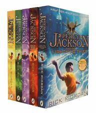 Percy Jackson Collection 5 Books Set Pack Rick Riordan the Lightning Thief NEW