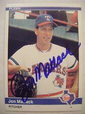 JON MATLACK signed RANGERS 1984 Fleer baseball card AUTO Autographed NY METS 422