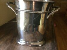 New listing Pottery Barn Silver Plated Wine Bucket With Divider