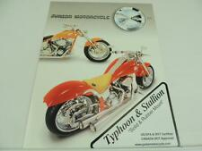 2005 Junior Motorcycle Typhoon and Stallion Dealer Brochure Specifications L2719