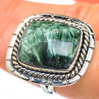 Large Seraphinite 925 Sterling Silver Ring Size 7.75 Ana Co Jewelry R45444F