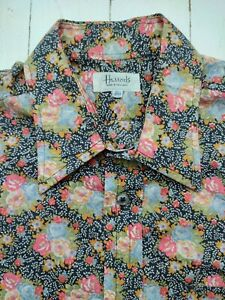 HARRODS SHIRT Vintage Liberty FLORAL Fabric Men's 16.5 in collar - AMAZING !!