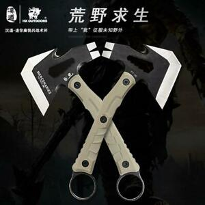 Mini Portable Outdoor Multifunctional Tactical Axe AX Non slip Handle Equipment