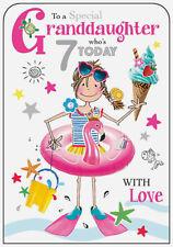 Granddaughter 7th Birthday Card Age 7 Seven
