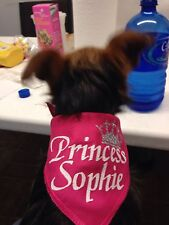 Custom Personalized Dog Bandana / Scarf. Tie Scarf. Glitter. 3 Sizes. Asst Color