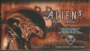 Alien 3 Upper Deck EMPTY DISPLAY BOX and Wrappers