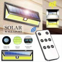 Remote 180 LED Solar Power PIR Motion Sensor Wall Light Outdoor Garden Yard Lamp