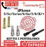KIT 2 VIS PENTALOBE iPhone 5C,5,5S,SE,6,6S,7,8,X,PLUS TORX QUALITE ORIGINALE