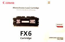 Canon FX-6, Canon FX-6 Toner, Canon LASER CLASS 3170 series, FAX-L1000, Canon