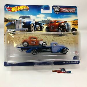 '32 Ford & Speed Waze * 2021 Hot Wheels Team Transport Case L