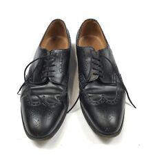 John Lobb Black Wingtip Shoes Men's 11UK?