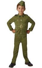 Kids Ww2 Soldier Green Uniform Boys Fancy Dress Party Costume 9-10 Years 620786xl