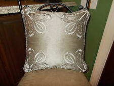 Croscill AMADEO Smoke, Silver & Slate Trio Bed Throw Pillows NIP, 1st Quality
