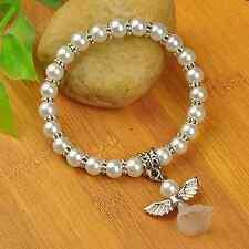 5 Glass Pearl,Angel,Fairy Bracelets - Bridal, Bridesmaids Wholesale,Job Lots UK
