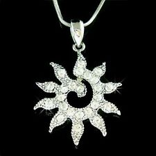 Sun Goddess w Swarovski Crystal Sunshine ~Sunburst~ Energy Eco Pendant Necklace