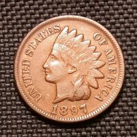 1897 Indian Head Cent/Penny - Very Fine VF