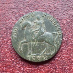 Coventry lady Godiva 1792 copper halfpenny token