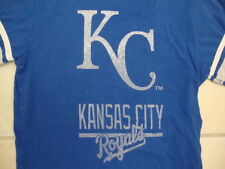 MLB Kansas City Royals Major league Baseball Fan Blue Classic T Shirt XS