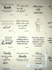 Religious Text Bible Verse Religious Cotton Fabric David Textiles By The Yard