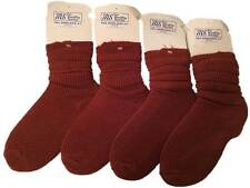 4 X Pairs MS Slouch Socks Rust Tan Adults Size 4-7 Fall Down Workout