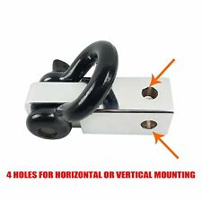 Tow Bar Hitch Receiver Towbar 4WD Off Road Recovery 5 Ton Kit With Bow Shackle