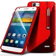 Cover e custodie ganci rosso in pelle sintetica per cellulari e palmari
