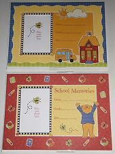Lot of 11 Kids Childrens School Memories Photo Picture Frame Cards + Envelopes