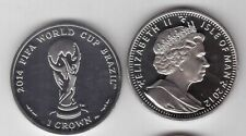 ISLE OF MAN – 1 CROWN UNC COIN 2012 YEAR BRAZIL FIFA FOOTBALL WORLD CUP 2014