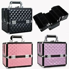 Large Vanity Make Up Beauty Box Cosmetic Nail Art Tools Storage Carry Train Case