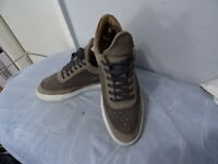 MENS Filling Pieces LEATHER Grey LACE-UP SHOES SIZE UK 6 GREAT CONDITION
