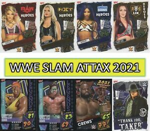 WWE Slam Attax 2021 - RARE, LOGO, HEROES BREAKOUT & PPV cards #251 to #348