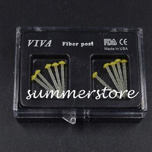Yellow 1.2mm Files Screw thread Glass Dental Resin Fiber Post Screw Endo 10 Pcs