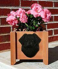 Tibetan Spaniel Planter Flower Pot Black