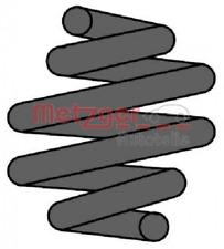 Fahrwerksfeder für Federung/Dämpfung Hinterachse METZGER 2241203